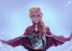 """CM : Elsa....?!! by kachima.deviantart.com on @deviantART - Elsa from """"Frozen"""" crossed over with """"Skyrim"""""""