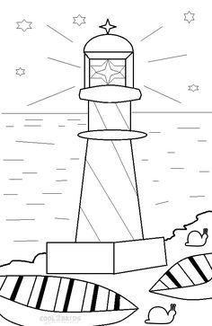 picture of printable lighthouse coloring pages