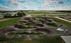 Runway Bike Park Pump track in Springdale, AR Olympic Size Swimming Pool, Swimming Pools, Springdale Arkansas, Arkansas Usa, Bucket List Family, Running Track, Bike Parking, Pista, Activities To Do