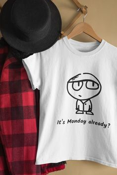 When the week-end passed? It's just me or Monday should be part of the week-end too. What so you think? :)  . . . Add some coolness to your accessories with this cool It's Monday already design or give it as the perfect gift! . . . Choose your size and color below then BUY IT NOW to place your order. It's Monday, Cool Stuff, Stuff To Buy, Tee Shirts, Unisex, Classic, Gift, How To Wear, Accessories