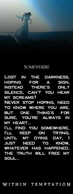 within temptation lost lyrics - Google Search
