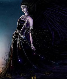 NYX (Νυξ) was the goddess of the night, one of the ancient Protogenoi (first-born elemental gods). In the cosmogony of Hesiod she was born of Chaos, and breeding with Erebos produced Aether and Hemera, first components of the primeval universe. Alone, she spawned a brood of dark spirits, including the three Fates, Sleep, Death, Strife and Pain. In ancient art Nyx was portrayed as a either a winged goddess or charioteer, sometimes crowned with an aureole of dark mist.