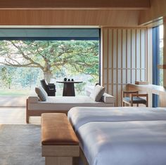 The wood-panelled suites and villas have been decked out with light-filled interiors, generous terraces and soothing in-room onsens, allowing you to feel completely at one with nature. Renowned for its serene natural beauty, the Ise-Shima National Park (in which Amanemu is based) is dotted with endless cultural treasures along with a labyrinth of hiking trails that snake among the shrines and waterfalls.