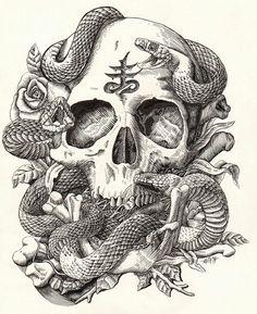 Sapip Tenktai - Skull & Snake
