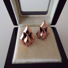Vintage 1950's Renoir Copper Earrings Clip On Earrings Clips Modernist Brutalist by VintageBlackCatz on Etsy