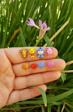 Winnie-The-Pooh stud earrings inspired.Piglet,Tiger,Eeyore,Pooh jewelry.Winnie Pooh jewelry.Disney jewelry.Clay Disney.Kawaii.Hypoallergenic