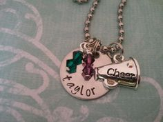 Beautiful Hand Stamped Cheer Necklace for the new cheerleader or even cheer mom
