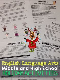 This Ho Ho Holiday Bundles includes eight different writing activities. These activities would be especially helpful around the months of November and December, so unwrap a new activity for each of your classes!