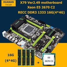 HUANAN motherboard CPU RAM set X79 V2.49 LGA2011 NVME SSD M.2 port Xeon E5 2670 C2 (44G)16G DDR3 RECC MAX support 416G memory now at http://ift.tt/2EtLPfe