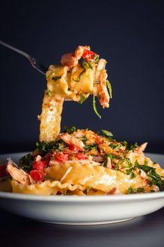 Tomato and Salmon Pasta.