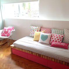 Um mundo cor de rosa e menta para Carol! - nara maitre | design e estampas