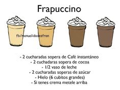 Frapuccino! Healthy Recepies, Healthy Menu, Cafe Moka, Coffee Express, Comida Diy, Chocolates, Smothie, Starbucks Drinks, Frappe