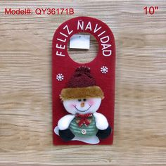 "10"" Christmas home Decoration Snowman Decor Santa Tree Ornament Xmas Gifts Door Hanging Decor FREESHIPPING $4.56"
