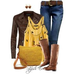 Brown. Yellow. Boots
