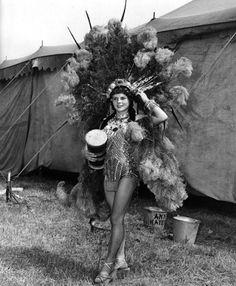 Circus girl, mid-20th C.