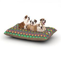 "Nandita Singh ""Pattern Play"" Rainbow Chevron Dog Bed   KESS InHouse"