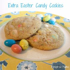 What do you do with all of that Easter Candy? Try using your extra Easter candy to make cookies with the kids! Find the recipe at B-InspiredMama.com!