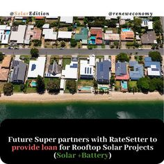 Future Super partners with RateSetter to provide loan for Rooftop Solar Project. Australias first fossil-free superannuation fund Future Super will partner with peer-to-peer lender RateSetter to provide loans for clean energy projects including rooftop solar and battery storage systems. According to reneweconomy RateSetter works as a peer-to-peer lending service where anyone can provide funds that can then be loaned to households or small-businesses looking to install a renewable energy… Solar Projects, Energy Projects, Renewable Energy, Solar Energy, Peer To Peer Lending, Solar Battery, Rooftop, Storage Systems, Power Outage