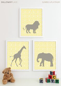 Safari Nursery Art Zoo Nursery Print Animal by DallowayPlaceKids, $43.00