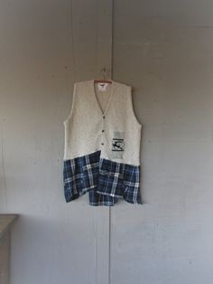 upcycled vest Layering tunic funky clothing by lillienoradrygoods