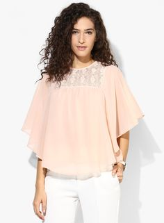 Buy Femella Peach Solid Blouse for Women Online India, Best Prices, Reviews  | FE248WA27XAIINDFAS
