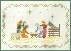 Mini Nativity Sampler - Xmas Cross Stitch Kit on 14 aida - good for beginners in Crafts, Needlecrafts & Yarn, Embroidery & Cross Stitch   eBay!
