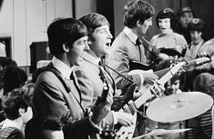 The Beatles perform on Ready Steady Go! for the first time at Television House on Kingsway, London on 4th October 1963.