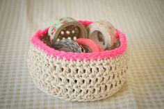 Loving...crochet baskets