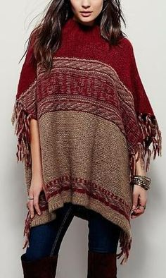 A Better Day Tassel Sweater Cape