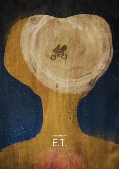 E.T. the Extra-Terrestrial (1982) - Minimal Movie Poster by Dean Walton (Mr Shabba)