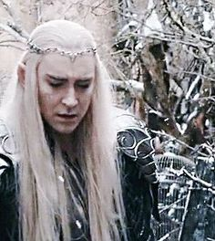 Legolas leads Tauriel away as Thranduil faces the truth about what he's become. Lee Pace Thranduil, Legolas And Thranduil, Tauriel, The Hobbit Movies, It Movie Cast, Mirkwood Elves, Elf King, Between Two Worlds, Great King