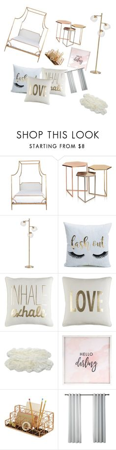 """""""Gold Room"""" by chelseamcgruder on Polyvore featuring interior, interiors, interior design, home, home decor, interior decorating, Niermann Weeks, PBteen, Luxe Collection and Hello Darling"""