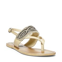 GIFTED NATURAL MULTI women's sandal flat ankle strap - Steve Madden WANT