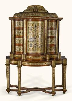 A SOUTH GERMAN BAROQUE PEWTER, BRASS ANDTORTOISESHELL BOULL