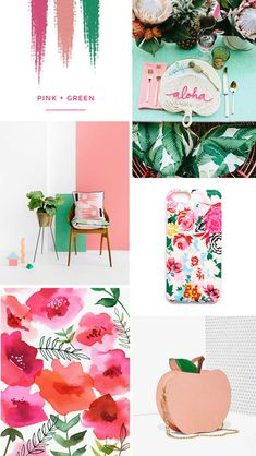Life in colour | Tropical pink and green