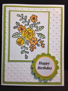 I Like You,Birthday Card, Stampin' Up!, Rubber Stamping, Handmade Cards