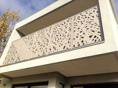 Cutout Entanglement Privacy Mild Steel balustrade screening Kew Victoria