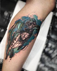 Marvelous turtle tattoo by  @Felipe Rodrigues Fe Rod https://www.instagram.com/rodferod/ www.facebook.com/pages/Felipe-Rodrigues-Fe-Rod/728109010556542