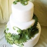 Artisan Cake Company - edible Fern Wedding Cake