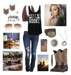 """""""Holy"""" by ninesaltykisses ❤ liked on Polyvore featuring Wrangler, Michael Kors, Christian Dior, J Brand, Charlotte Russe, Nocona, Ray-Ban, Laredo and Grace Lee Designs"""