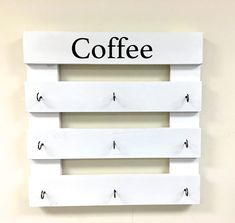 Items similar to Coffee mug rack, coffee cup display, reclaimed wood, kitchen storage, kitchen deco Coffee Mug Storage, Coffee Cup Rack, Coffee Mug Display, Coffee Mug Holder, Coffee Mugs, Coffee Beans, Coffee Scrub, Coffee Cozy, Coffee Creamer