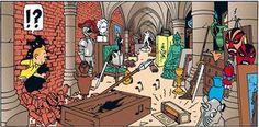 Tintin colour illustration