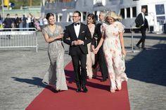 Queens & Princesses: Prince Carl Philip & Sofia Hellqvist's pre-wedding dinner. Crown Princess Victoria, Prince Daniel and Crown Princess Mette Marit