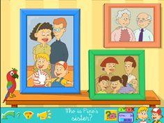 Juego sobre vocabulario de la familia: abuelos, padres, etc