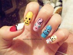 pokemon nails designs   Pokemon nail polish art manicure