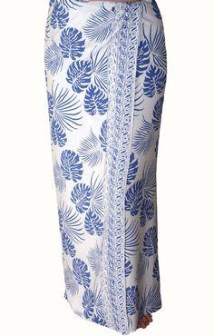 404c655a4412 Men's Beach Sarong Wrap Batik Sarong - Men's Clothing Surf & Swimwear Pareo  Hawaiian Tropical Jungle Leaf Sarong White and Blue Beachwear by PuaWear on  Etsy