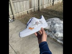Tom and Jerry Air Force 1 by customsbyuriel Air Force One Shoes, Air Force Ones, Air Force 1, Wedge Sneakers, Sneakers Nike, Jordan 1 Red, Lv Shoes, Custom Shoes, Custom Af1