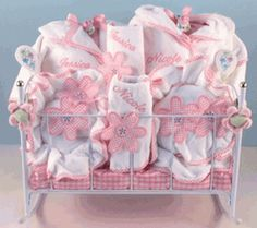 """Blooming Flowers"" Personalized Baby Gift for Twin Girls"