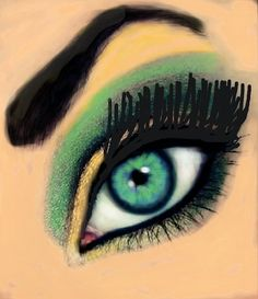 #Eye #Make-up  #Colorized #Sketch by Marcelo. Start Colorizing today by downloading the app for your iPhone or iPod touch. Go to http://colorized.by for more info.