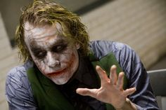 Behind The Scenes Pictures Of the Iconic Interrogation Scene From The Dark Knight. A Must See For Batman Fans. http://www.viralinferno.com/31-heath-ledger-behind-the-scenes-pictures/ #batman #joker #heathledger #christianbale #movies